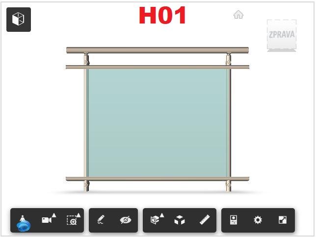 Zábradlí H01 čelní kotvení