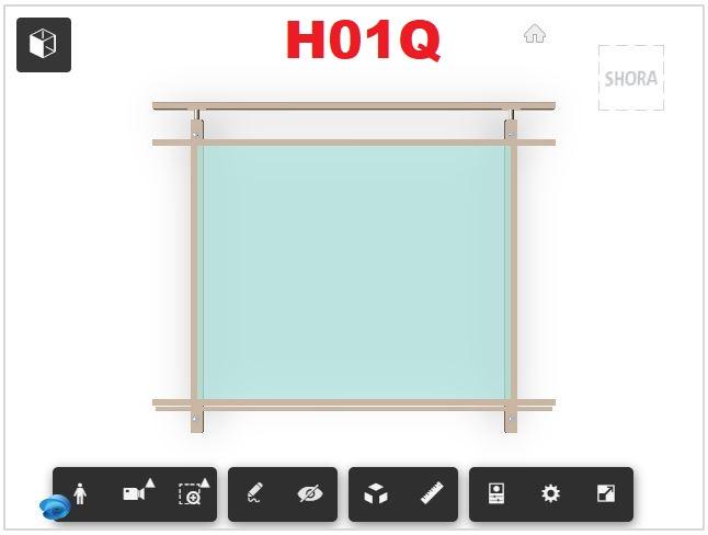 Zábradlí H01Q čelní kotvení