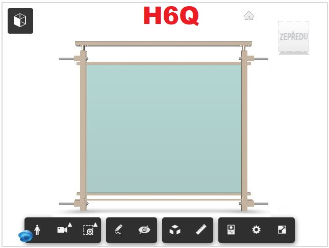 Zábradlí H6Q čelní kotvení