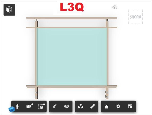 Zábradlí L3Q čelní kotvení