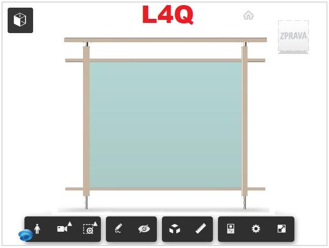 Zábradlí L4Q čelní kotvení